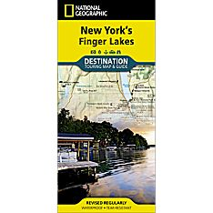New York's Finger Lakes Destination Map, 2012
