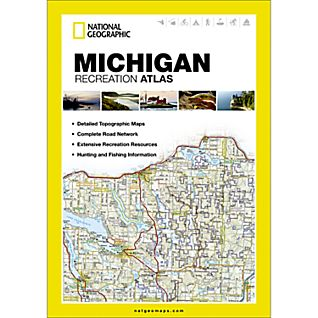 photo: National Geographic Michigan Recreation Atlas us midwest guidebook