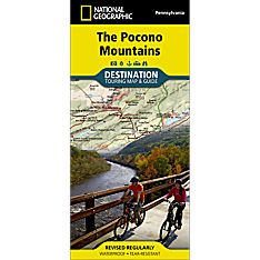 Pocono Mountains Destination Map, 2013