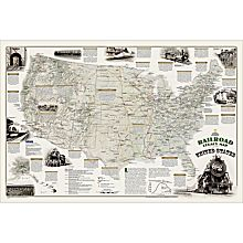 Map of the United States Laminated