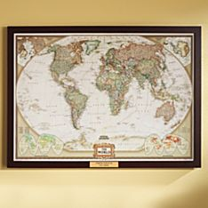 Framed World Map in Color