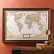 Personalized Framed World Maps