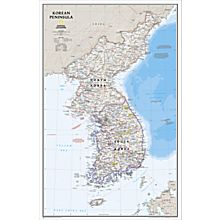 Map Korea Wall