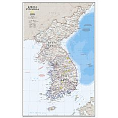 Korean Peninsula Classic Map, Laminated, 2013