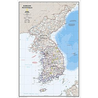 Korean Peninsula Classic Map, Laminated