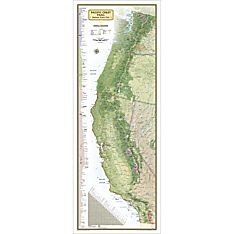 Pacific Crest Trail Reference Map, Laminated, 2014