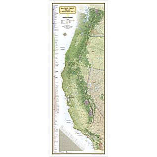 Pacific Crest Trail Reference Map, Laminated