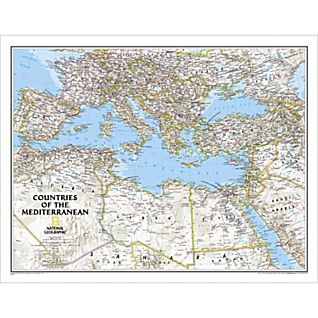 View Countries of the Mediterranean Map (Classic) image