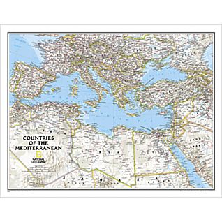 View Countries of the Mediterranean Map (Classic), Laminated image