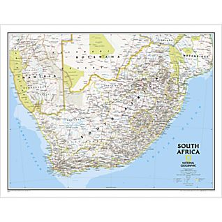 View South Africa Map (Classic), Laminated image