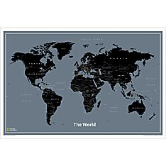 World Modern Map, Laminated