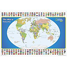The World for Kids Wall Map