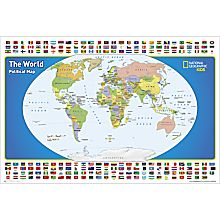 World Map for Kids, Laminated