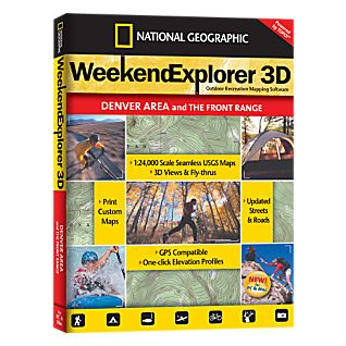 photo: National Geographic Weekend Explorer 3D - Denver Area CD-ROM us mountain states map application