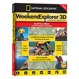 photo: National Geographic Weekend Explorer 3D - Seattle Area CD-ROM us pacific states map application