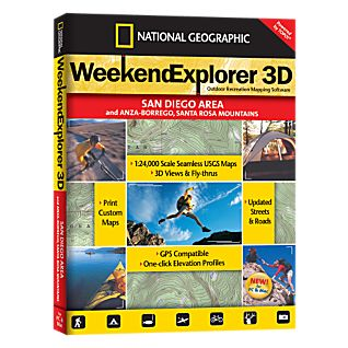 Weekend Explorer 3D - San Diego Area & Anza-Borrego, Santa Rosa Mountains