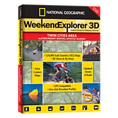 Weekend Explorer 3D - Twin Cities & Boundary Waters, Apostle Islands - 9781597751049