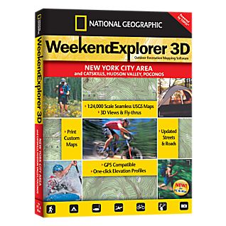 photo: National Geographic Weekend Explorer 3D - New York City Area CD-ROM us northeast map application