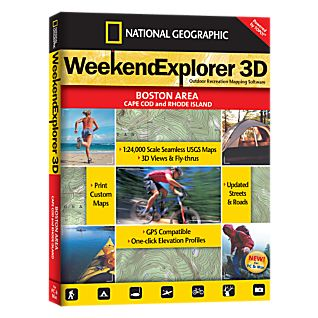 photo: National Geographic Weekend Explorer 3D - Boston, Cape Cod & Rhode Island CD-ROM us northeast map application