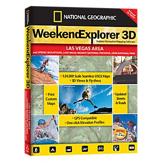 Weekend Explorer 3D - Las Vegas Area and Spring Mountains, Lake Mead, Mojave National Preserve, Zion National Park
