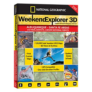 Weekend Explorer 3D - Albuquerque - Santa Fe Areas and Taos, Santa Fe & Carson National Forests