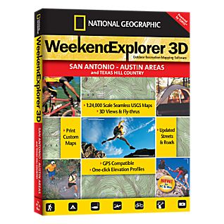 National Geographic Weekend Explorer 3D - San Antonio & Austin Areas CD-ROM