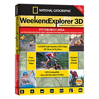 photo: National Geographic Weekend Explorer 3D - Pittsburgh Area CD-ROM us northeast map application