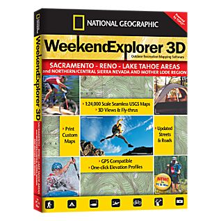 Weekend Explorer 3D - Sacramento - Reno - Lake Tahoe Areas and Northern/Central Sierra Nevada and Mother Lode Region