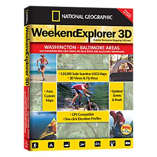 Weekend Explorer 3D - Washington - Baltimore Areas and Chesapeake Bay, C&O Canal, No. Blue Ridge and Allegheny Mountains