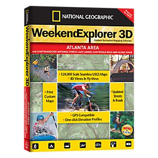 Weekend Explorer 3D - Atlanta Area and Chattahoochee National Forest, Lake Lanier, Chattooga Wild and Scenic River