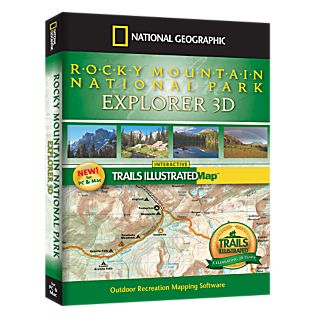 photo: National Geographic Rocky Mountain National Park Explorer 3D CD-ROM us mountain states map application