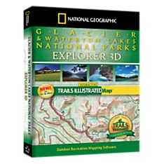 Glacier & Waterton Lakes National Parks Explorer 3D - 9781597751476