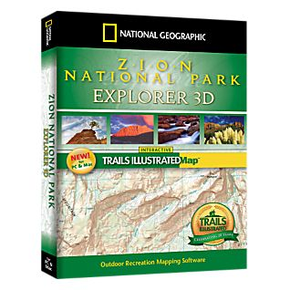 photo: National Geographic Zion National Park Explorer 3D CD-ROM us mountain states map application