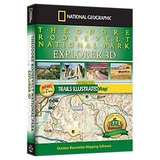 photo: National Geographic Theodore Roosevelt National Park Explorer 3D CD-ROM us midwest map application