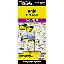 Baja California Adventure Travel and Hiking Map Pack