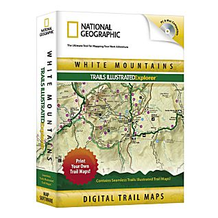 photo: National Geographic White Mountains Trails Illustrated Explorer CD-ROM us northeast map application