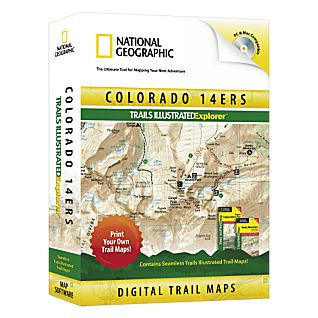 National Geographic Colorado 14ers Trails Illustrated Explorer 3D