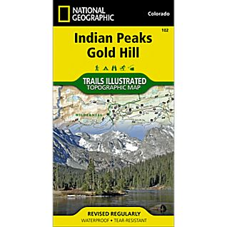 National Geographic Indian Peaks/Gold Hill Map