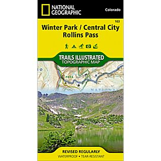 103 Winter Park, Central City, Rollins Pass Trail Map