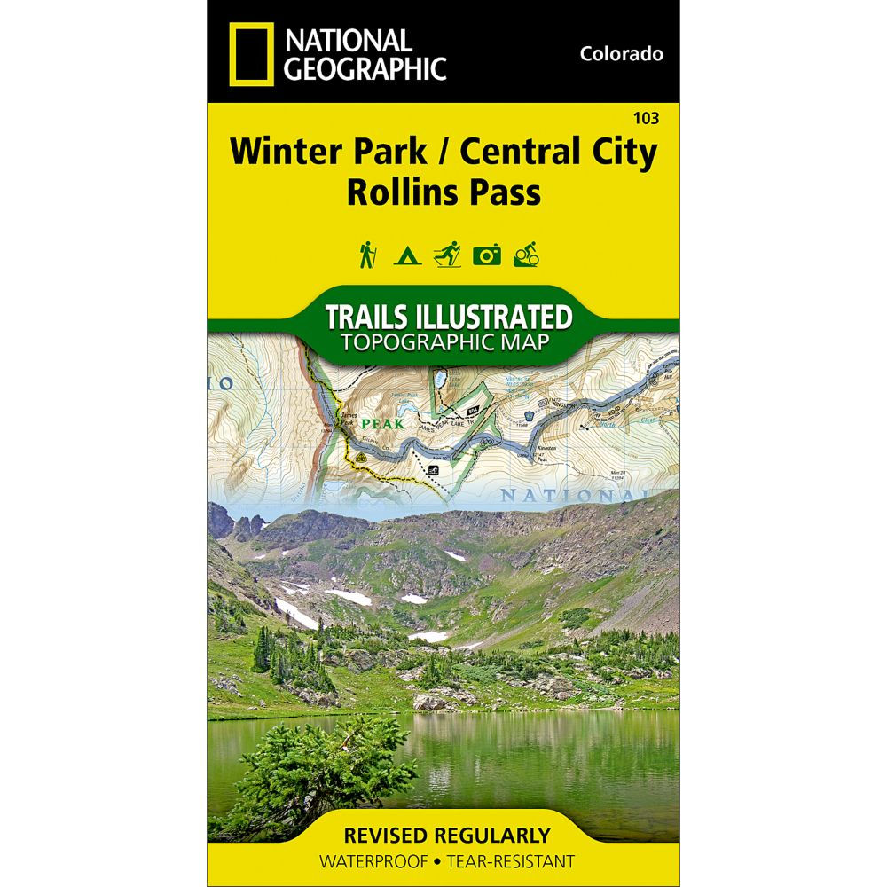 National Geographic Winter Park/Central City/Rollins Pass Trail Map