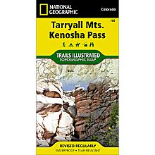 105 Tarryall Mountains/Kenosha Pass Trail Hiking Map