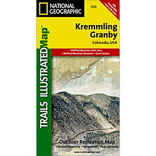 National Geographic Kremmling/Granby Trail Map