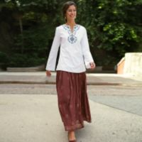 Embroidered Apparel - Zardozi Embroidered Tunic - Size Medium