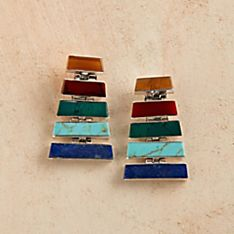 Hand-Crafted Chilean Inca Earrings