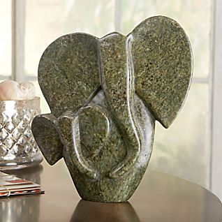 View African Shona Elephant Sculpture image