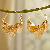 Gold-plated Fulani Tribal Earrings