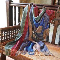 Rainbow Scarves - Bolivian Alpaca Rainbow Shawl