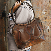 Handcrafted Bolivian Leather Bag