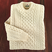 Men's Traditional Irish Aran Sweater