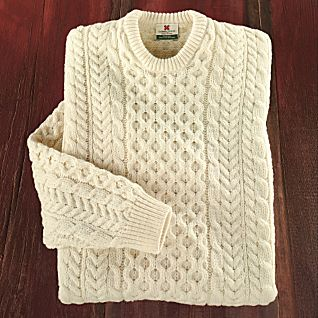 View Men's Traditional Irish Aran Sweater image